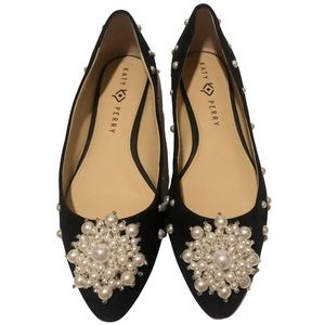 Katy Perry Black Suede and Pearl Flats (10)
